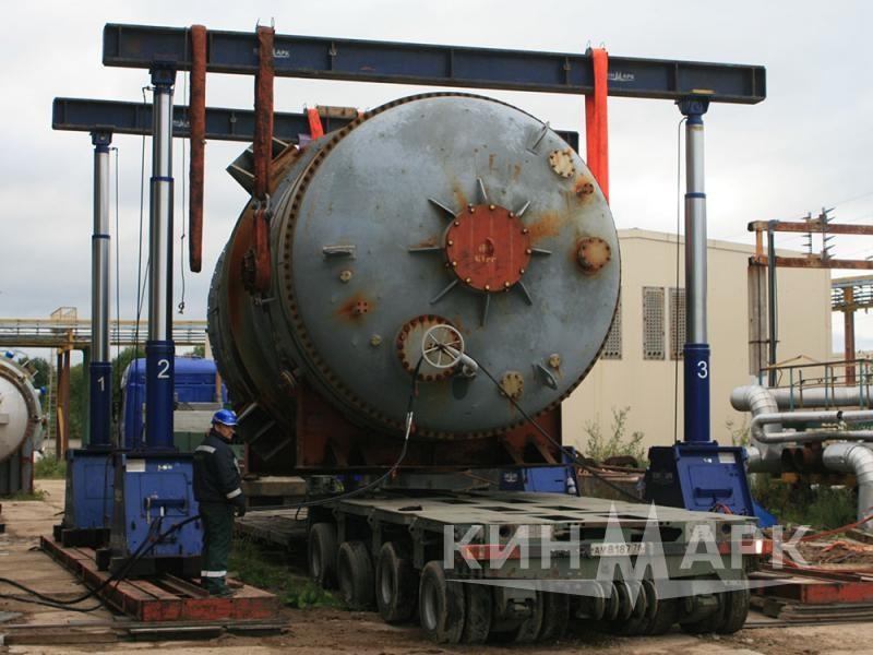 Погрузка реактора и испарителя