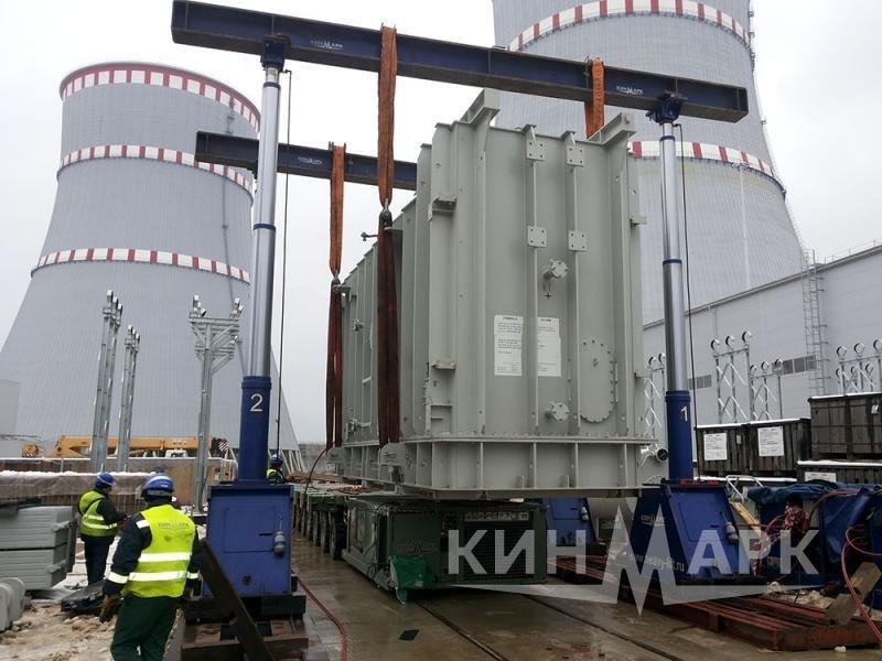 Перевозка трансформаторов на деревянных санях