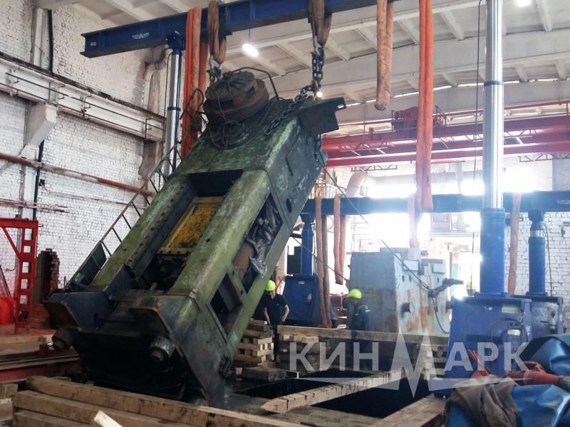 Drop forging hammer anvil block and press dismantling