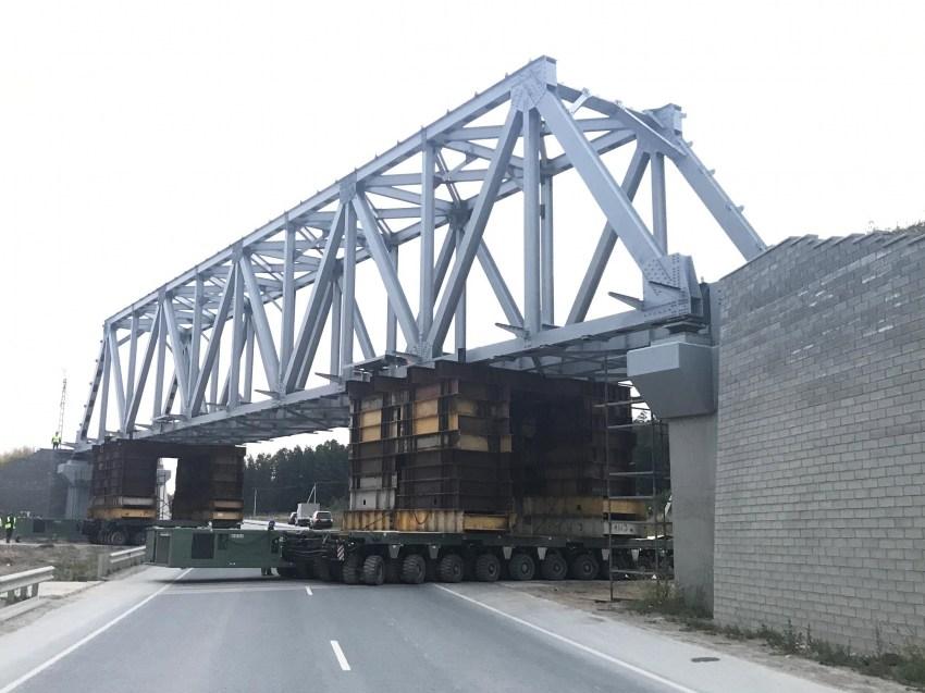 Монтаж мостовых подкрановых балок