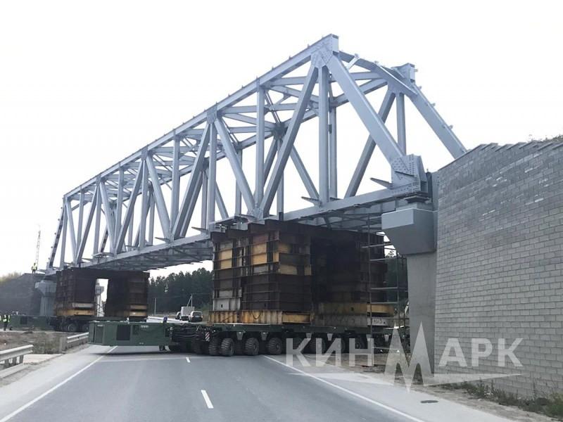 Перемещение мостового пролета