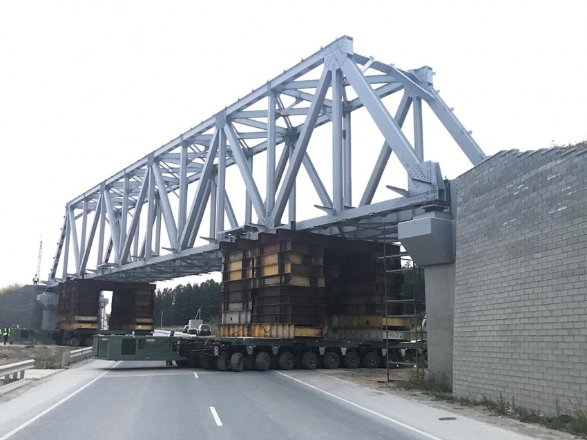 Установка мостового пролета