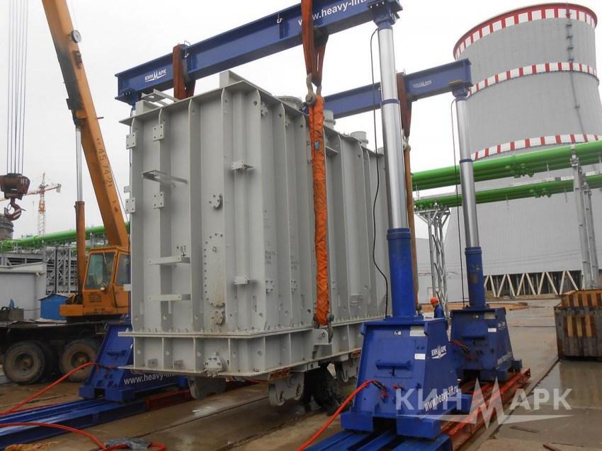 Перевозка трансформаторов на металлических санях: особенности рельефа