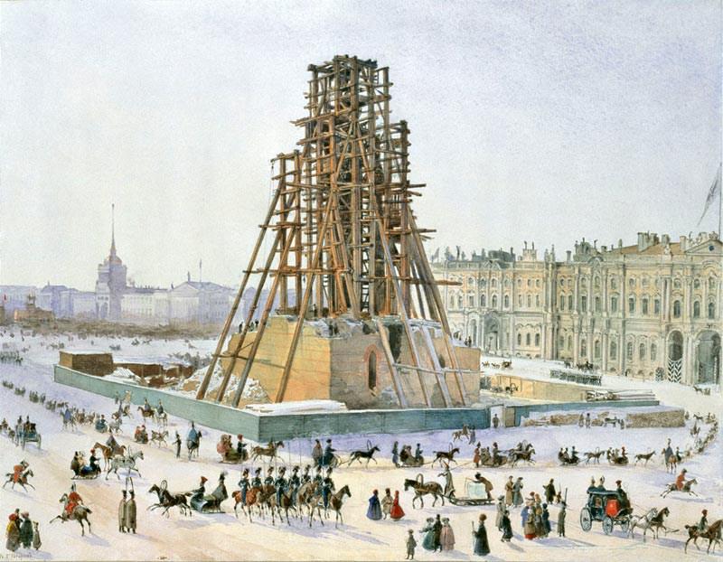 Такелаж Александрийского столпа 1832 г.