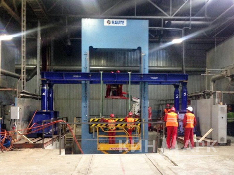 Installation of Raute press
