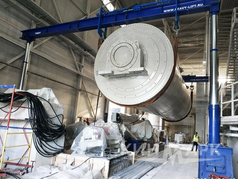 Installation of SACMI continuous drum mill