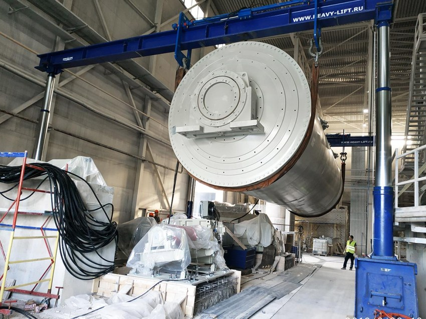 Installation of SACMI continuous drum mill