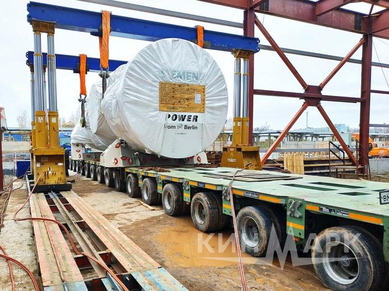 Установка турбин и генераторов SIEMENS