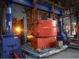Установка цилиндра гидравлическим порталом