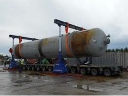 Погрузка и перевозка двух реакторов