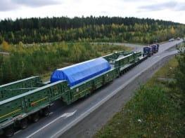 Погрузка, перевозка и выгрузка тяжеловесного оборудования