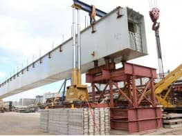 Loading and transportation of bridge beams