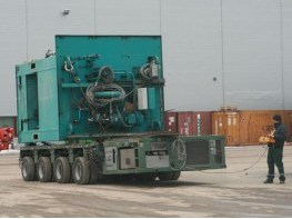 Перемещение на самоходном модуле SPMT