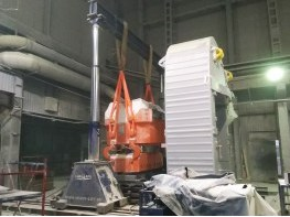 Установка цилиндра пресса SACMI PH8200 гидропорталом
